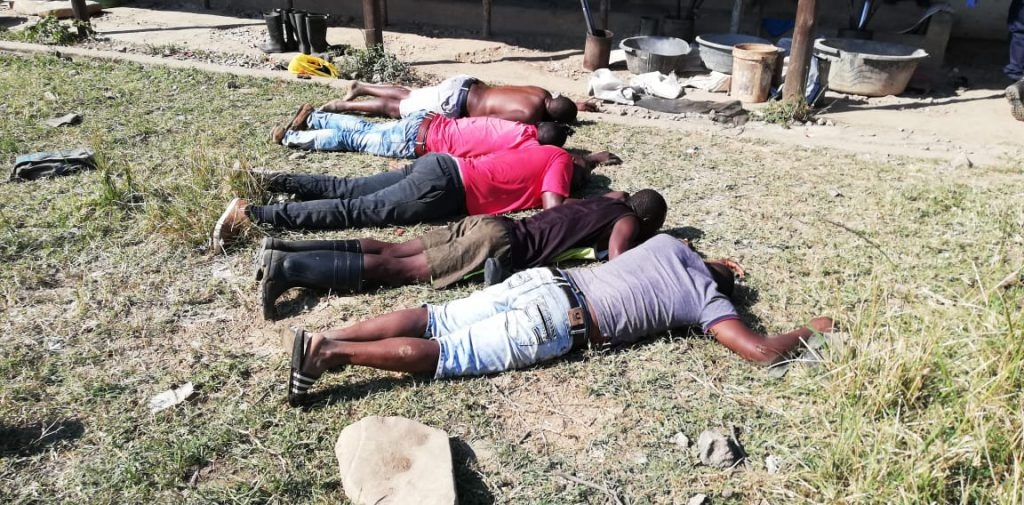 The five arrested suspects