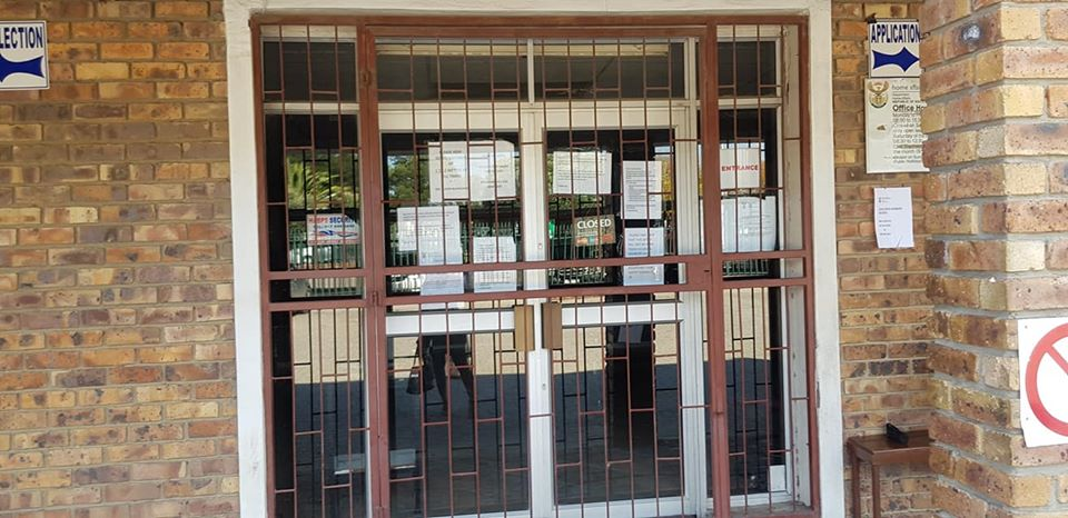 Dept of Home Affairs closed