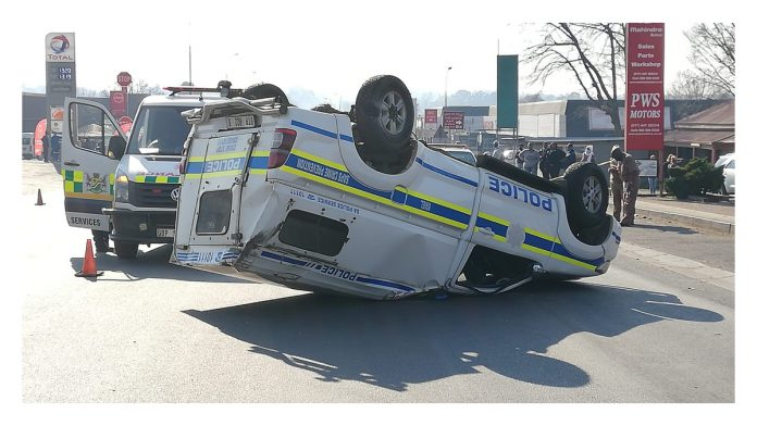 Traumatising accident involving 1 SAPS vehicle