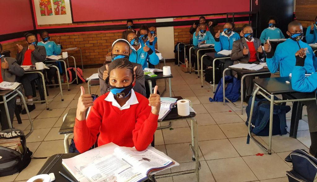 All systems go at T.P. Stratten Primary School for the Gr 7 learners