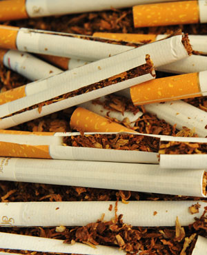 Illicit cigarettes and suspected Heroine drug found in a truck from Mozambique