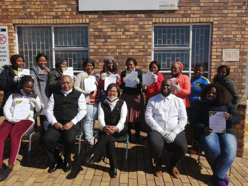 EDUVACS facilitated the first Domestic Cleaner Training to 12 well deserved ladies