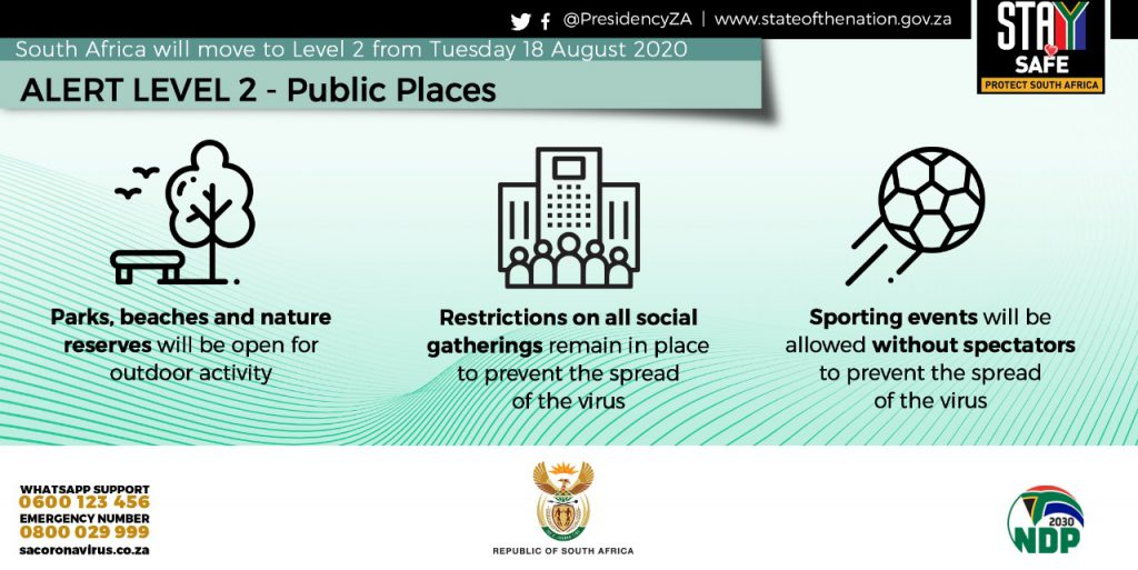 What is allowed as South Africa moves to Level 2