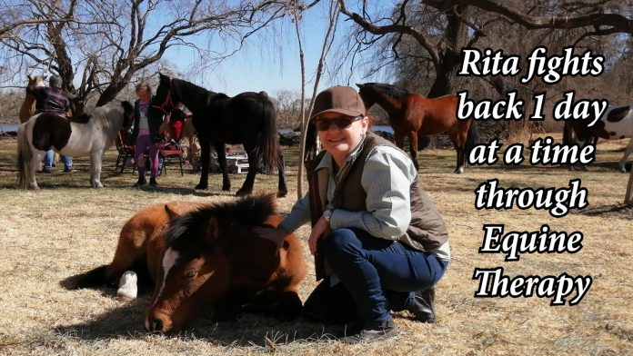 Rita fights back 1 day at a time through Equine Therapy