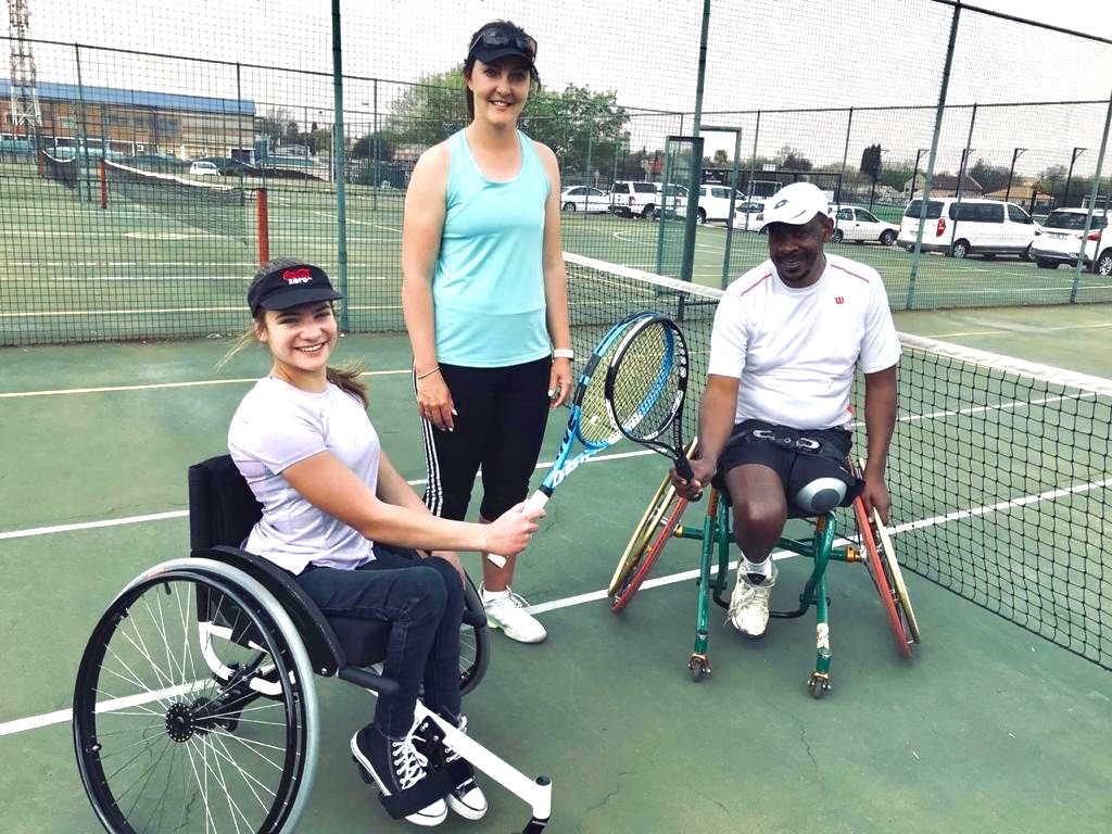 A Tennis coach and a wheelchair tennis player taking 1 community by storm