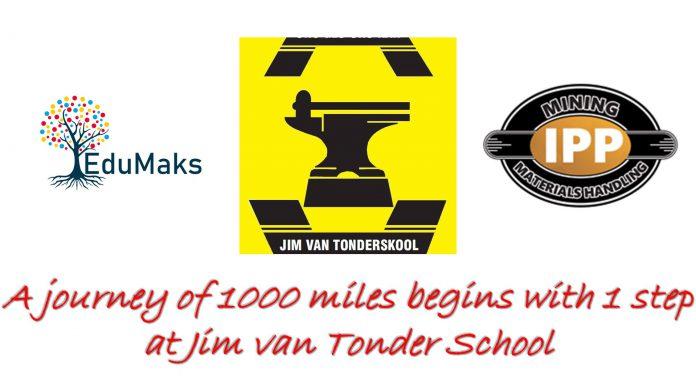 A journey of 1000 miles begins with 1 step at Jim van Tonder School