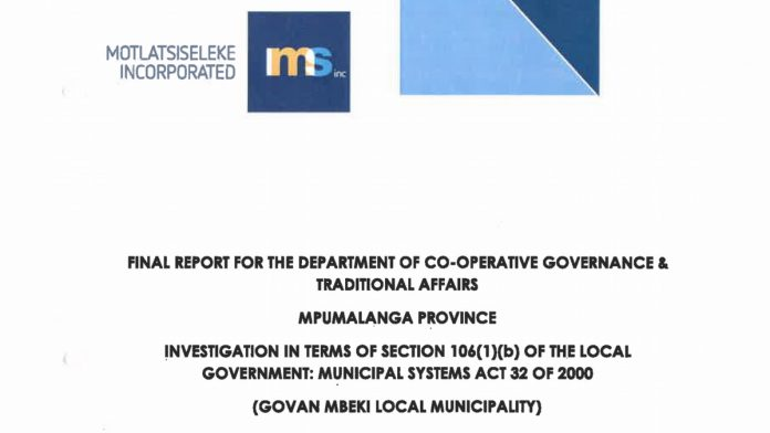 Section 106 report tabled to council